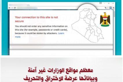معظم مواقع الوزارات غير آمنة وبياناتها عرضة للاختراق والتحريف