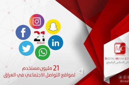 21 مليون مستخدم لمواقع التواصل الاجتماعي في العراق